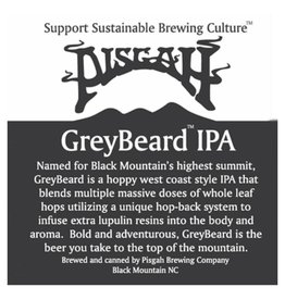 Pisgah Brewing Co. 'Greybeard IPA' 12oz (Can)