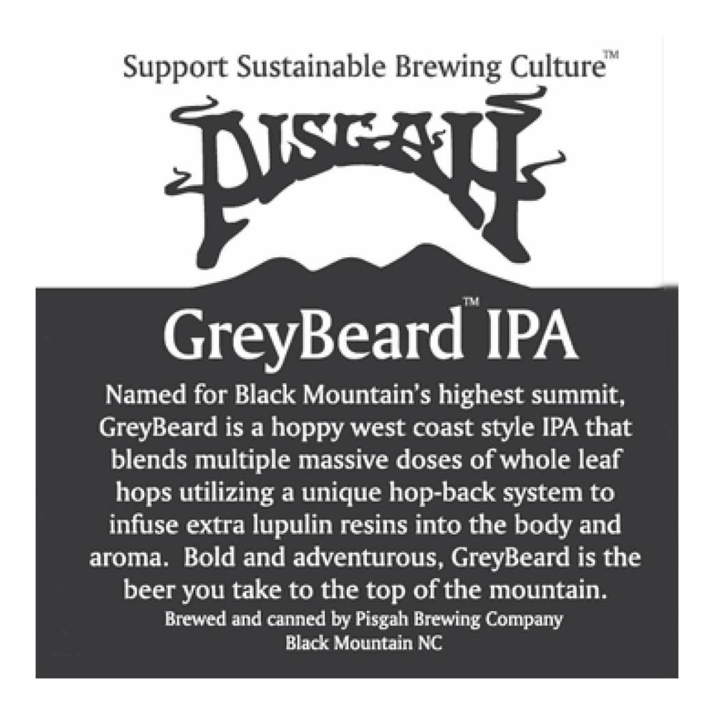 Pisgah Brewing Co. 'Greybeard IPA' 12oz (Can)