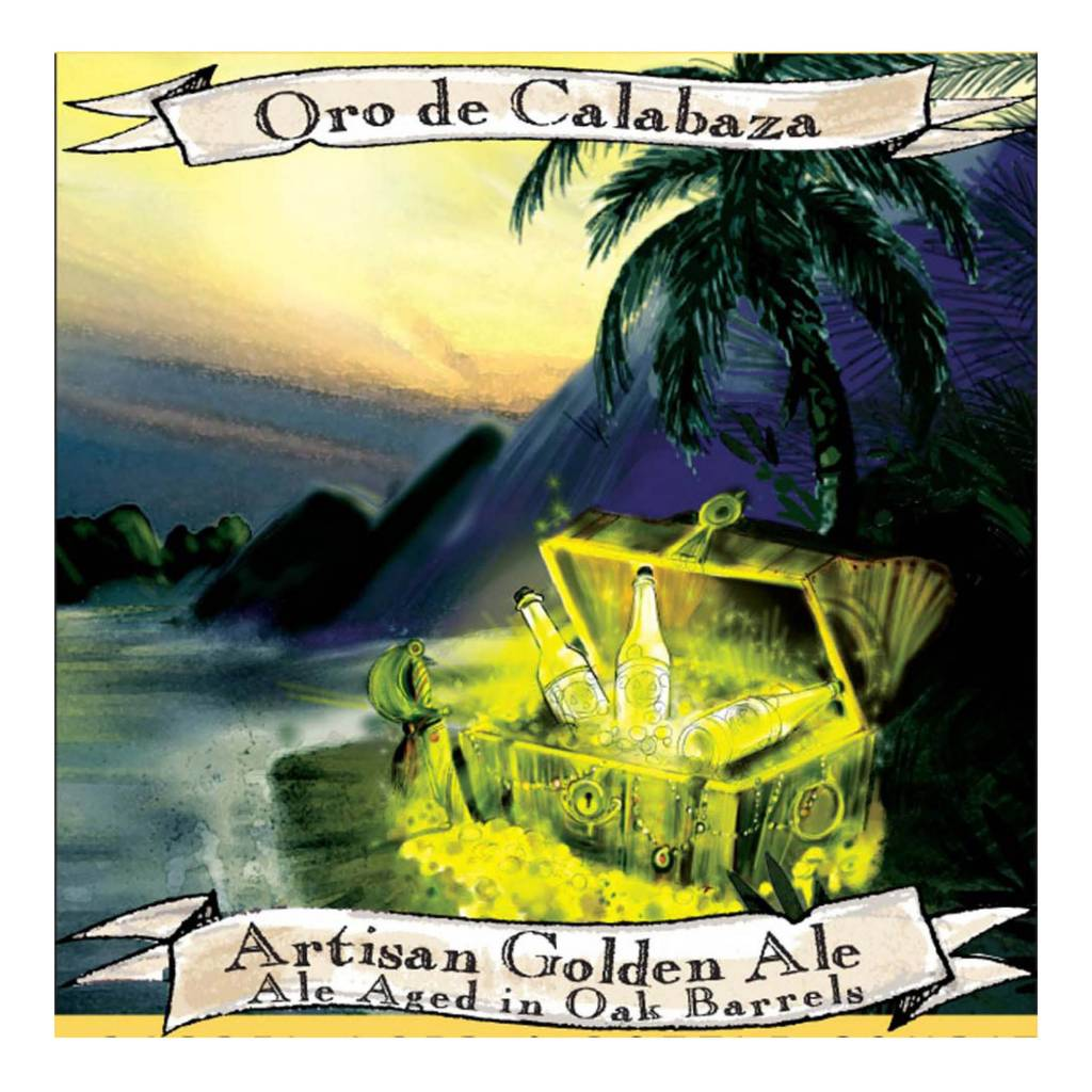 Jolly Pumpkin 'Oro de Calabaza' Golden Ale Aged in Oak Barrels 375ml