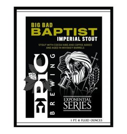 Epic 'Big Bad Baptist' Imperial Stout 22oz