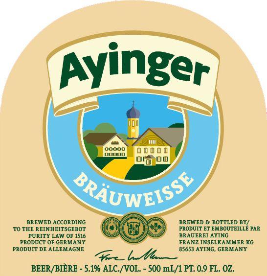 Franziskaner 'Ayinger Brau-Weisse' 500ml