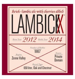 Vanberg & DeWulf 'Lambickx Private Domain - Kriek - 2012/2014'  750ml