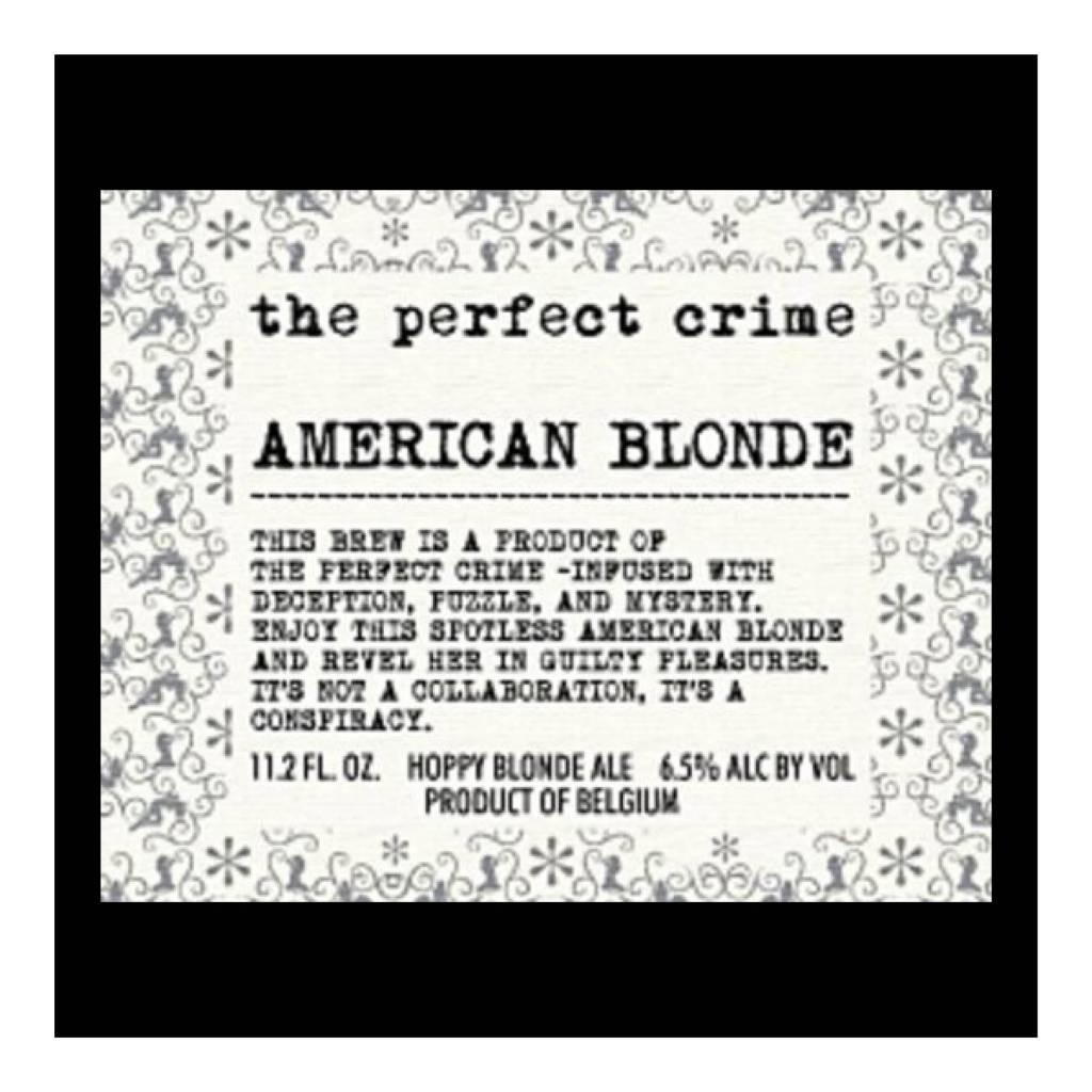 Scheldebrouwerij The Perfect Crime - American Blonde' 330ml