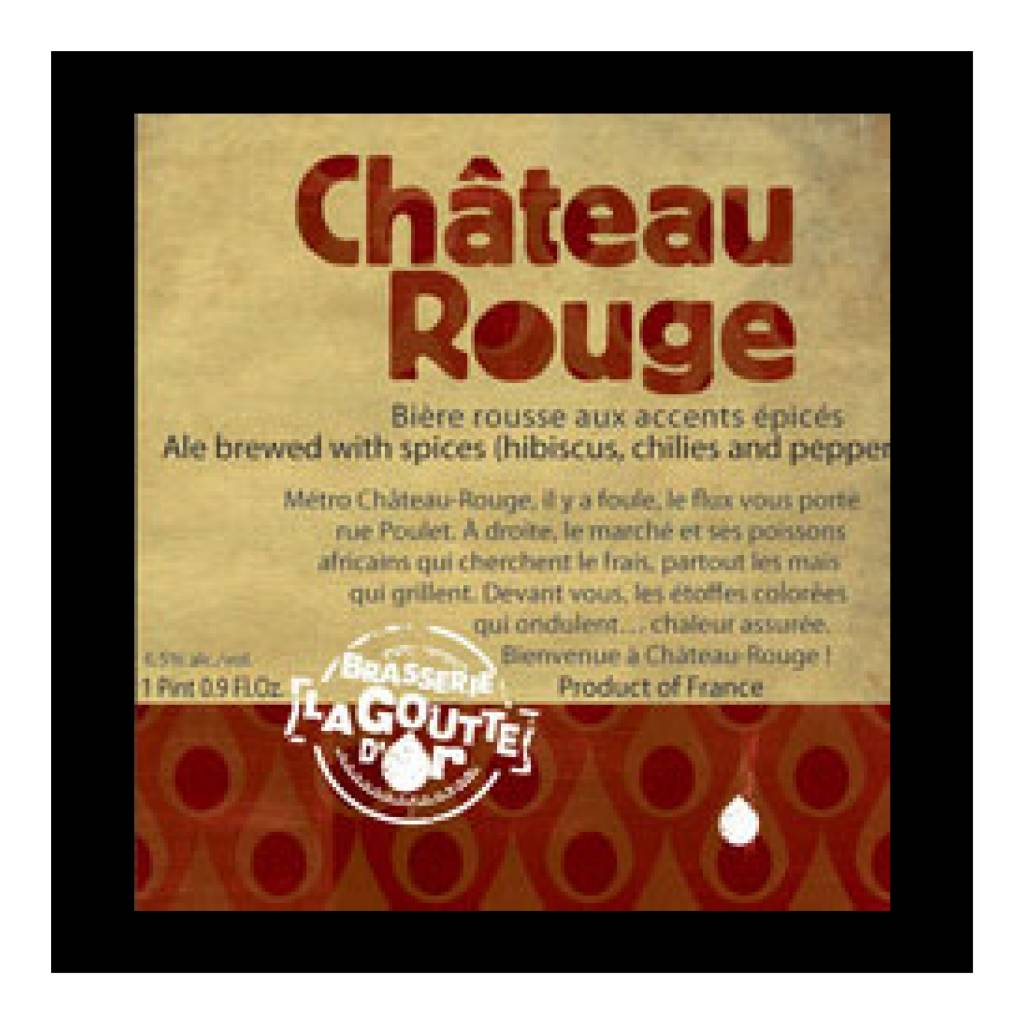 De La Goutte d'Or 'Chateau Rouge' 500ml