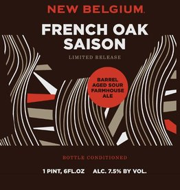 New Belgium Brewing 'French Oak Saison' Barrel Aged Sour Farmhouse Ale 22oz