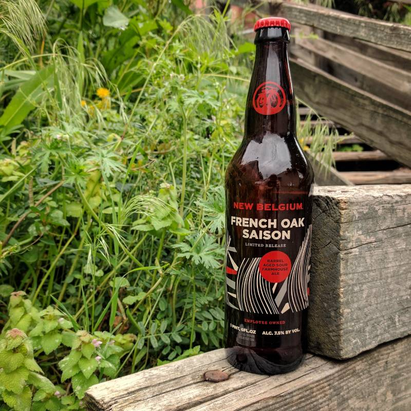 New Belgium Brewing 'French Oak Saison' Barrel Aged Sour Farmhouse Ale 22oz