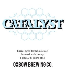 Oxbow 'Catalyst' Barrel-aged Farmhouse ale w/ Honey 500ml
