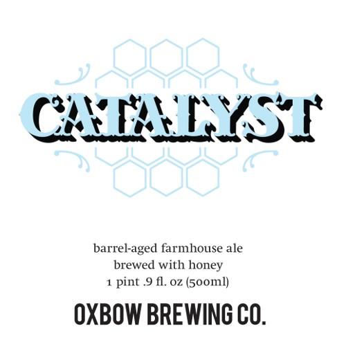 Oxbow 'Catalyst' Barrel-aged Farmhouse ale w/ Honey 500ml