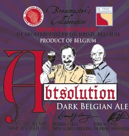 De Proefbrouwerij x New Glarus 'Abtsolution' Dark Belgian Ale 750ml