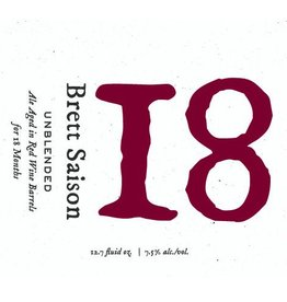 Blackberry Farm Brewery '18' Saison Aged on Red Wine Barrels 375ml