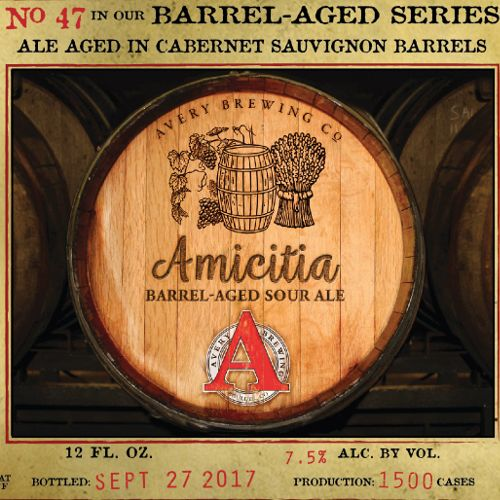 Avery Brewing Co. 'Amicitia' Barrel-Aged Sour Ale 12oz Sgl