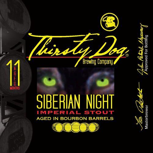 Thirsty Dog 'Siberian Night' Bourbon Barrel Aged Imperial Stout 12oz Sgl