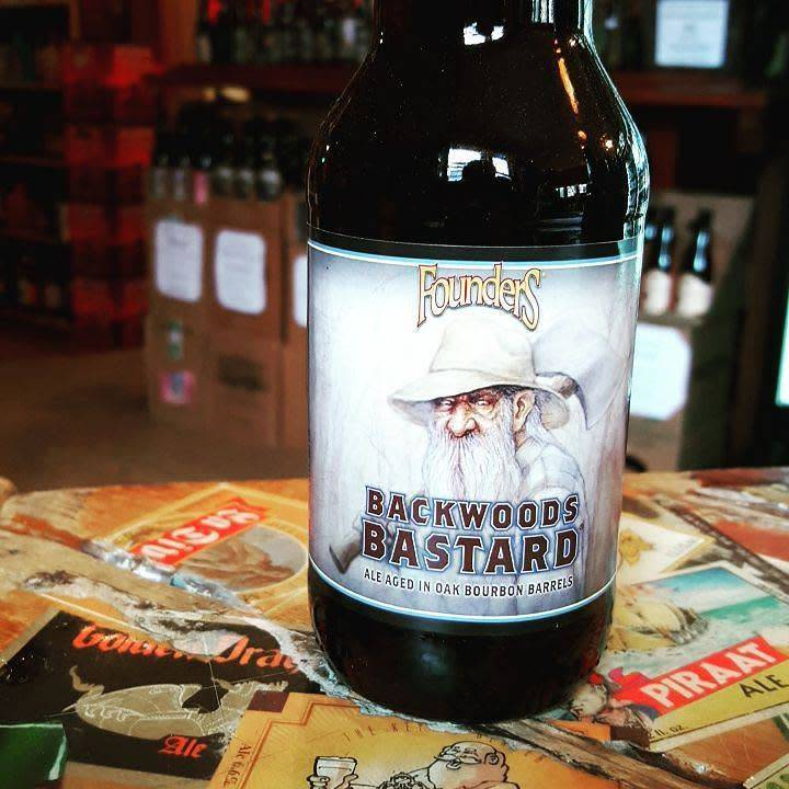 Founders Brewing Co. 'Backwoods Bastard' Ale aged in Oak Bourbon Barrels 12oz Sgl