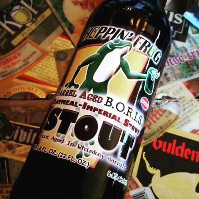 Hoppin' Frog 'Barrel-aged B.O.R.I.S.' Oatmeal Imperial Stout 22oz