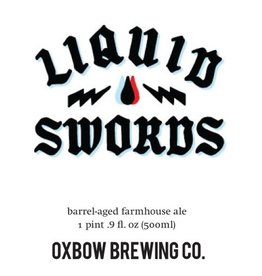 Oxbow 'Liquid Swords 2017' Barrel-aged Dark Farmhouse Ale 500ml