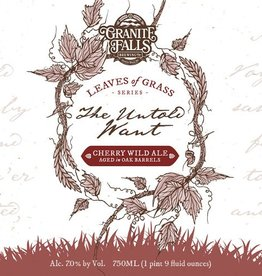 Granite Falls 'The Untold Want' Cherry Ale Aged in Oak Barrels 750ml