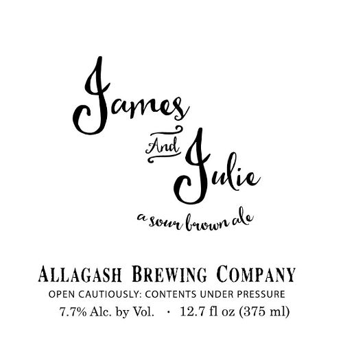 Allagash Brewing Co. 'James and Julie' Sour Brown Ale 375ml