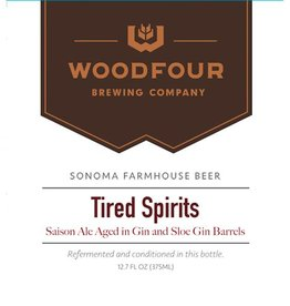 Woodfour 'Tired Spirits' Gin Barrel-aged Tart Saison 375ml