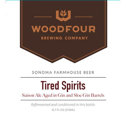 Woodfour 'Tired Spirits' Gin Barrel-aged Tart Saison 375ml