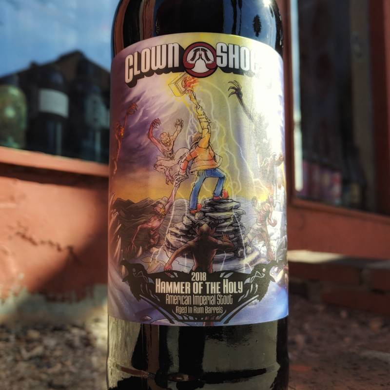Clown Shoes 'Hammer of the the Holy 2018' Smoked Imperial Stout Aged in Rum Barrels 22oz