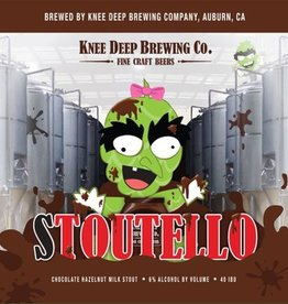 Knee Deep 'Stoutello' Chocolate Hazlenut Milk Stout 12oz Sgl