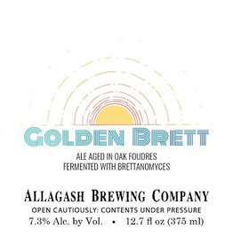 Allagash Brewing Co. 'Golden Brett' Ale Aged in Oak Barrels 375ml