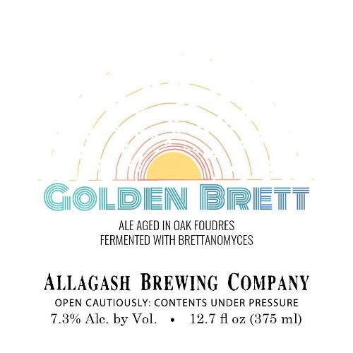 Allagash Brewing Co. 'Golden Brett' Ale Aged in Oak Barrels 375ml