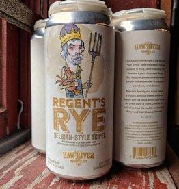 Haw River Farmhouse Ales 'Regent's Rye' Tripel 16oz (Can)