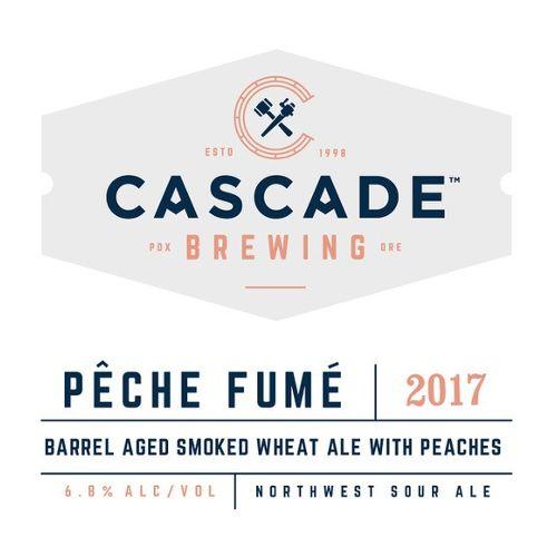 Cascade 'Pêche Fumé 2017' Barrel-aged Smoked Wheat Ale w/ Peaches750ml