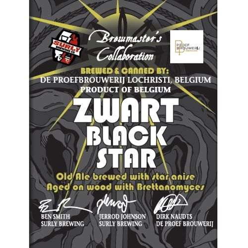 De Proefbrouwerij x Surly 'Zwart Black Star' Old Ale 12oz (Can)
