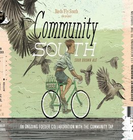 Birds Fly South Ale Project 'Community South' Red Wine Barrel-aged Sour Brown Ale w/ Cherries 750ml