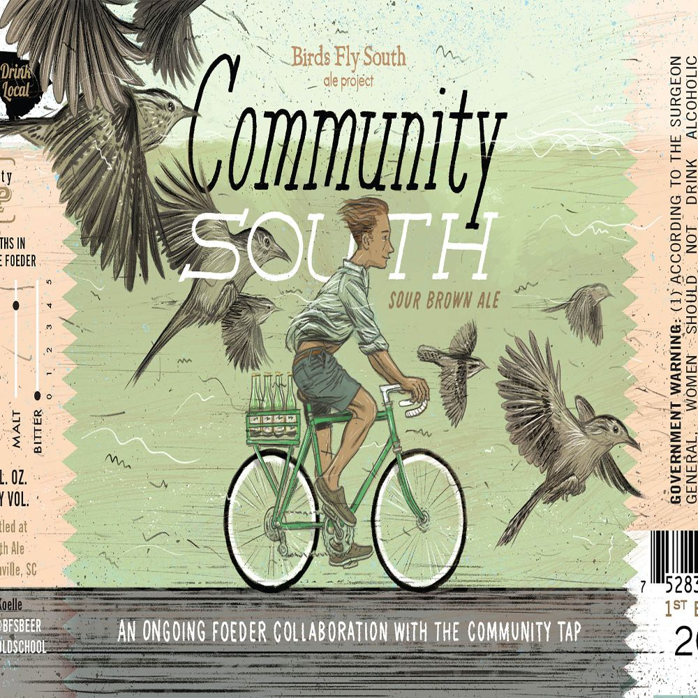 Birds Fly South Ale Project Birds Fly South 'Community South' Sour Brown Ale w/ Cherries and Brettanomyces 750ml