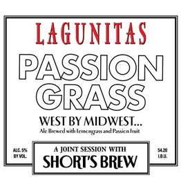 Lagunitas x Short's  'Passion Grass' Ale w/ Lemongrass and Passion Fruit 12oz Sgl