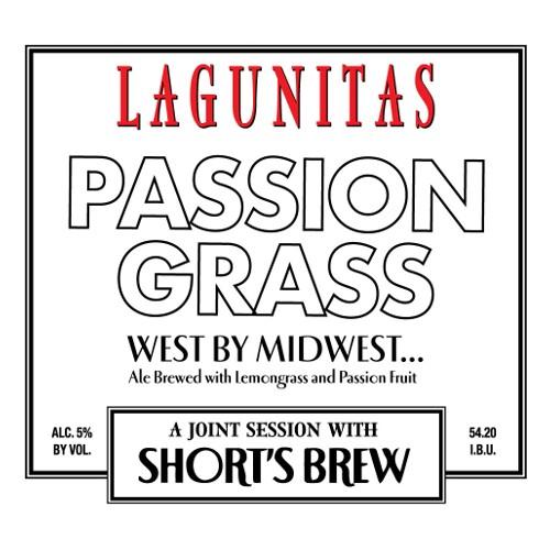 Lagunitas x Short's  'Passion Grass' Ale w/ Lemongrass and Passion Fruit 12oz Sgl