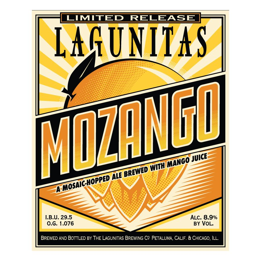 Lagunitas 'Mozango' Mosaic Hopped Ale w/ Mango Juice 22oz