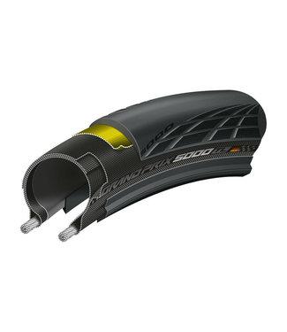 CONTINENTAL Pneu Continental Grand Prix 5000 700 x 25 Clincher Folding Black 330tpi