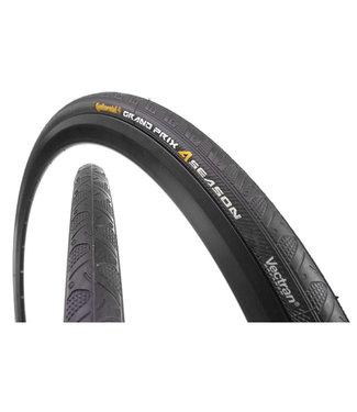CONTINENTAL Pneu Continental Grand Prix 4-Season Tire - 700 x 25 Clincher, Folding, Black, 330tpi