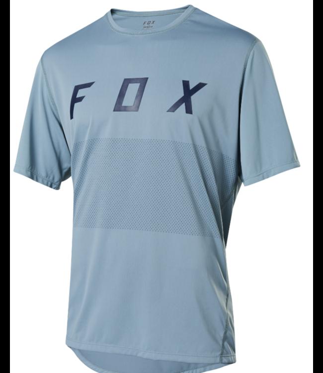FOX Chandail Fox Ranger SS Bleu pâle LOGO