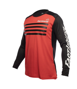Fasthouse Maillot Fasthouse Alloy Stripe Jersey Rouge