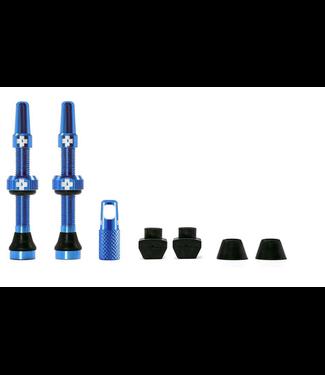 Muc-Off Muc-Off Valve Tubeless  Presta 44mm Bleu  Paire