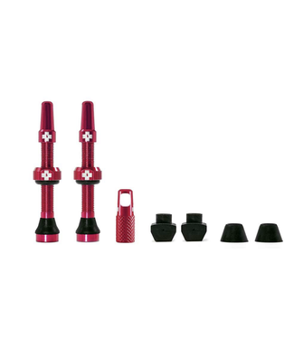 Muc-Off Muc-Off Valve Tubeless  Presta 44mm Rouge Paire