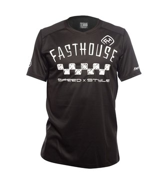 Fasthouse Maillot Fasthouse Alloy Nelson Stripe Jersey Noir