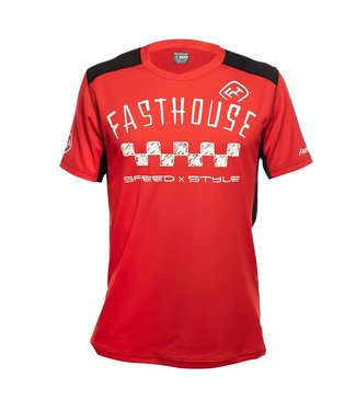 Fasthouse Maillot Fasthouse Alloy Nelson Stripe Jersey Rouge