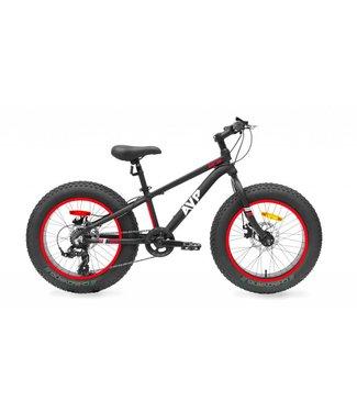 17 AVP Fat Bike Junior 24po Noir/Rouge/Blanc