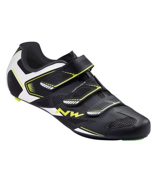 Northwave Northwave, Sonic 2, Road shoes, Black/White/Yellow Fluo,