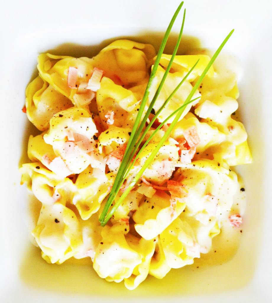 Tortellini 5 fromages & sauce alfredo au crabe (175 g)
