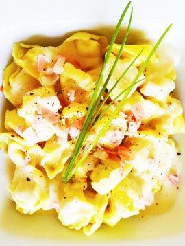5-cheeses tortellini & crab alfredo sauce (325g)