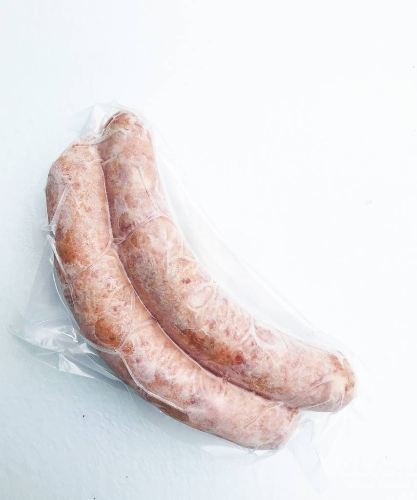 Bacon & cheddar sausages