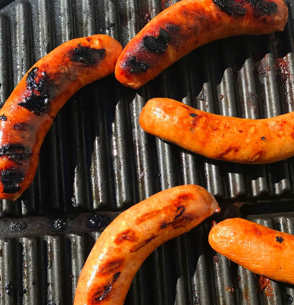 Ham & maple sausages