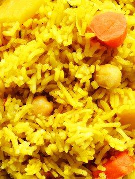 Riz à l'indienne & noix de coco
